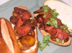 Fried Plantain,Smoked Chorizo and Peanut Butter Sandwich